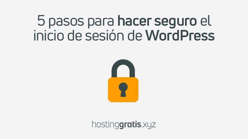 Hacer seguro el login de Wordpres