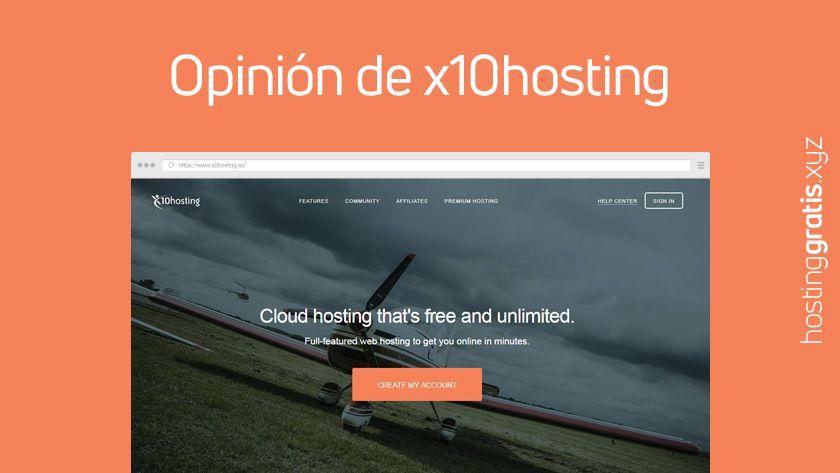 Opinión de x10hosting