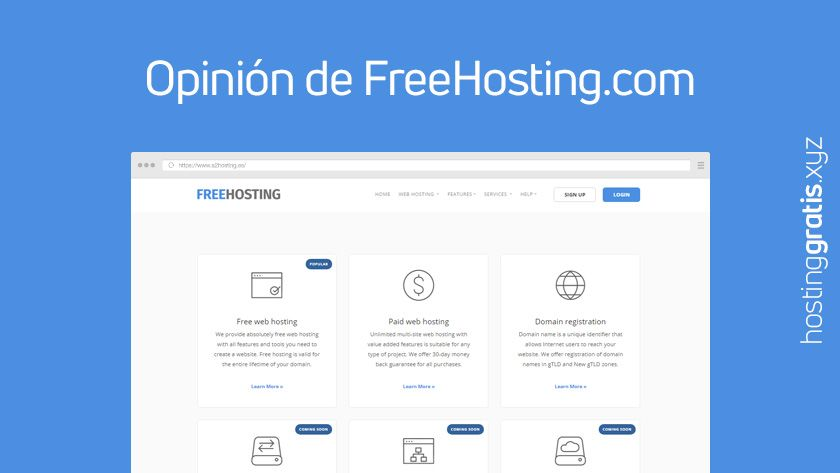 Opinión de FreeHosting.com